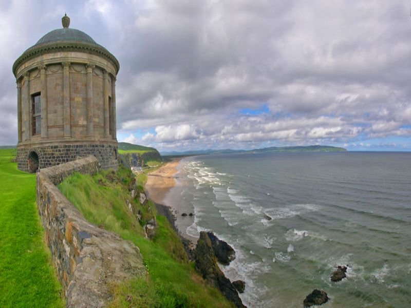 Mussenden Temple and Downhill Beach, County Londonderry