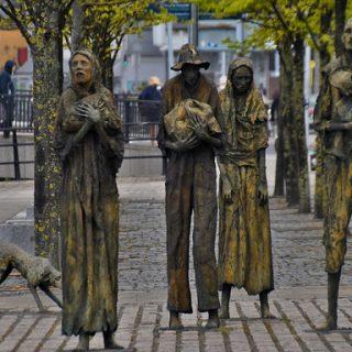 potato famine memorial in dublin