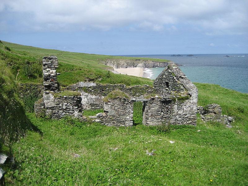ruins in great blasket island